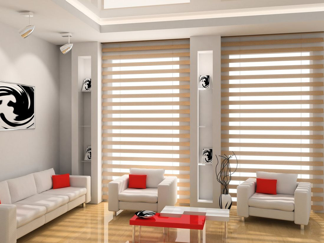 Modern room showing blinds