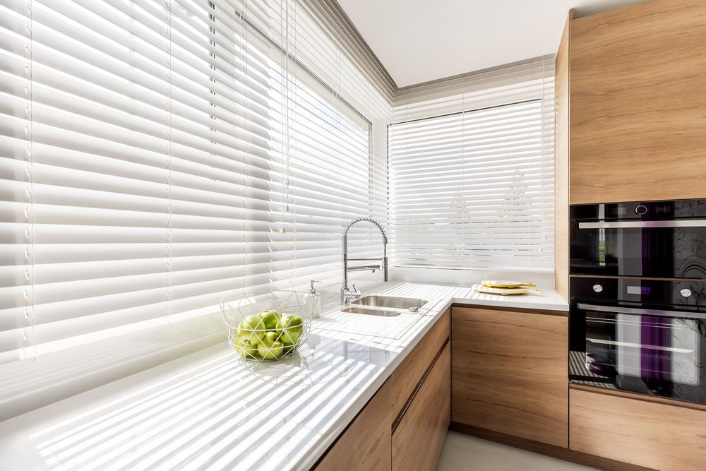 High-quality blinds installed in a kitchen